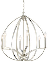 Minka-Lavery 4986-613 - 6 Light Chandelier