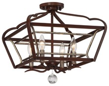 Minka-Lavery 4347-593 - 4 Light Semi Flush Mount