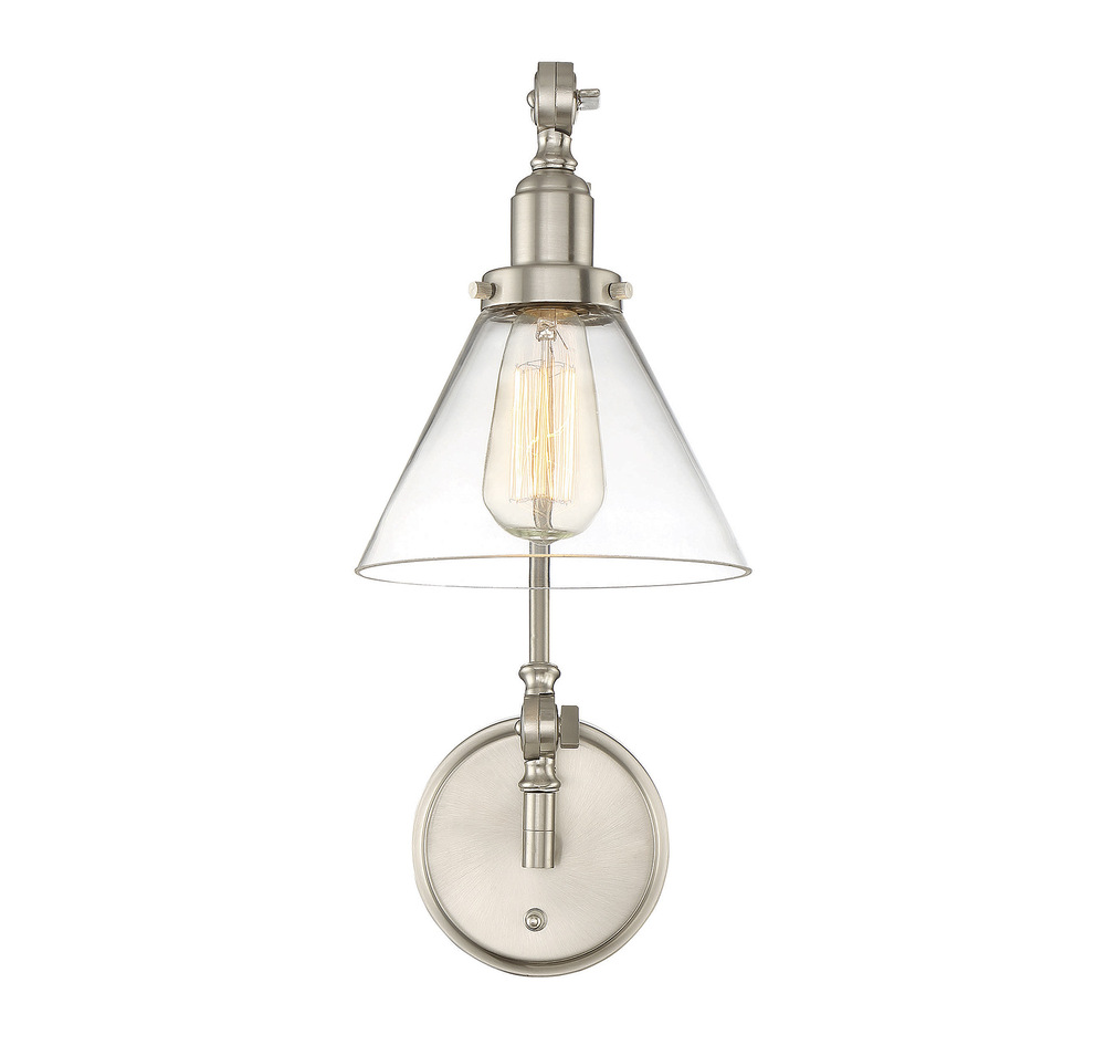 Wilkinson's House of Lighting in St.George, Utah, United States, Savoy House 9-9131CP-1-SN, Drake 1 Light Adjustable Sconce, Drake