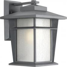 Progress P6041-136WB - One Light Etched Seeded Glass Textured Graphite Wall Lantern