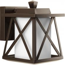 Progress P6047-20 - One Light Antique Bronze Etched Opal Glass Wall Lantern