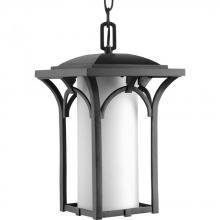 Progress P6518-31WB - One Light Black  Etched Opal Glass Wall Lantern