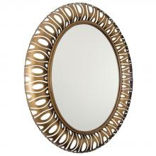 Varaluz 149A02HO - Masquerade Oval Mirror - Hammered Ore