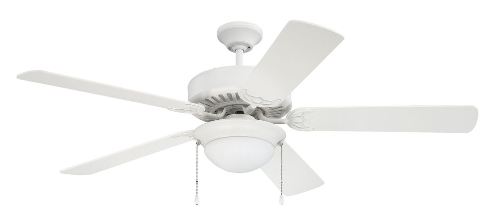 "Pro Energy Star 209 52"" Ceiling Fan in White (Blades Sold Separately)"