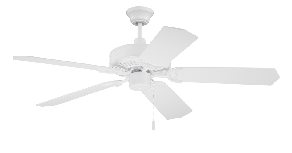 "Pro Energy Star 52"" Ceiling Fan in White (Blades Sold Separately)"