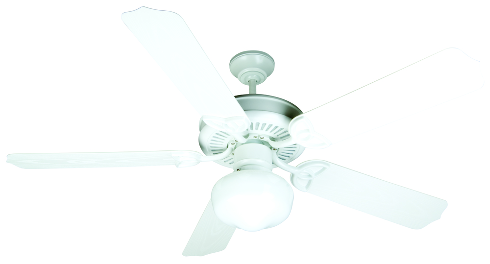 "Wilkinson's House of Lighting in St.George, Utah, United States, Craftmade K10529, Outdoor Patio 52"" Ceiling Fan Kit with Light Kit in White, Outdoor Patio"