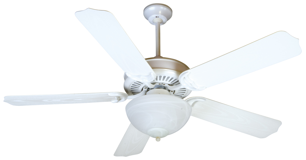 "Wilkinson's House of Lighting in St.George, Utah, United States, Craftmade K10738, Porch Fan 52"" Ceiling Fan Kit with Light Kit in White, Porch Fan"