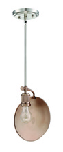 Craftmade 42391-PLNSRG - Eclipse 1 Light Mini Pendant in Polished Nickel/Satin Rose Gold