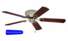 "Craftmade PUH52AB - Pro Universal Hugger 52"" Ceiling Fan in Antique Brass (Blades Sold Separately)"