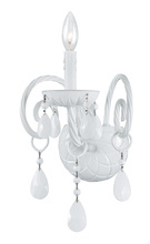 Crystorama 1071-WW-WH-MWP - Crystorama Envogue 1 Light Wet White Sconce