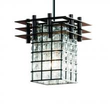 Justice Design Group WGL-8167-15-GRCB-DBRZ-BKCD-LED1-700 - Metropolis 1-Light Small Pendant (3 Flat Bars)