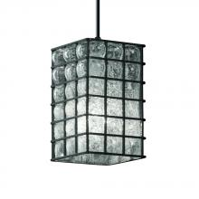 Justice Design Group WGL-8816-15-GRCB-DBRZ - 1-Light Small Pendant