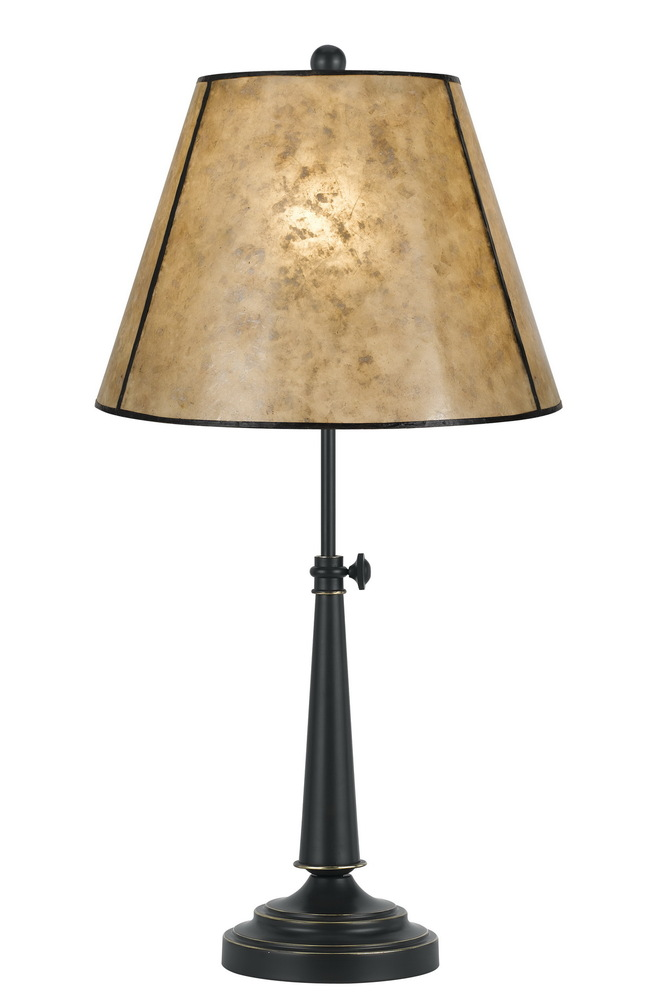 "27"" Height Iron Desk Lamp In Oil Rubbed Bronze"