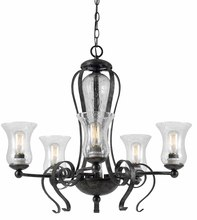 "CAL Lighting FX-3548/5 - 25"" Inch Tall Metal Chandelier In Eternity Finish"