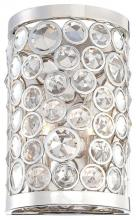 Minka Metropolitan N2750-613 - Polished Nickel Clear Crystal Accents Glass Wall Light