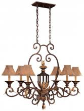 Minka Metropolitan N6234-355 - Golden Bronze Optional Shade-sh1949 Shade Up Chandelier
