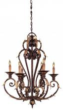 Minka Metropolitan N6235-355 - Golden Bronze Open Frame Foyer Hall Fixture