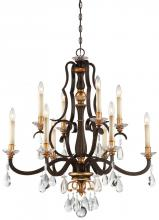 Minka Metropolitan N6459-652 - 10 Light Chandelier