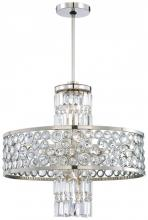 Minka Metropolitan N6759-613 - Thirteen Light Polished Nickel Clear Crystal Accents Glass Up Chandelier