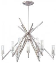 Minka Metropolitan N6831-613 - Polished Nickel Eidolon Krystal Glass Shades Shade Up Chandelier