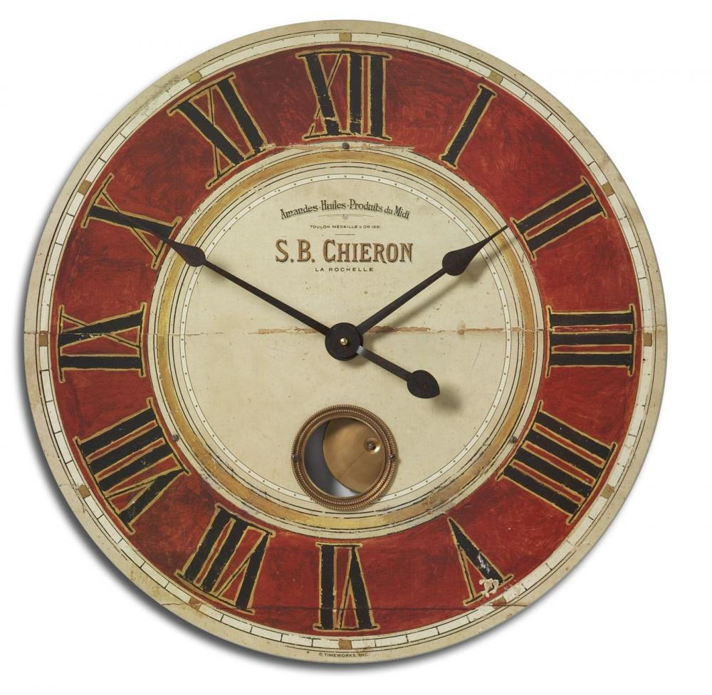 "Wilkinson's House of Lighting in St.George, Utah, United States, Uttermost 06042, Uttermost S.B. Chieron 23"" Wall Clock, S.B. Chieron"