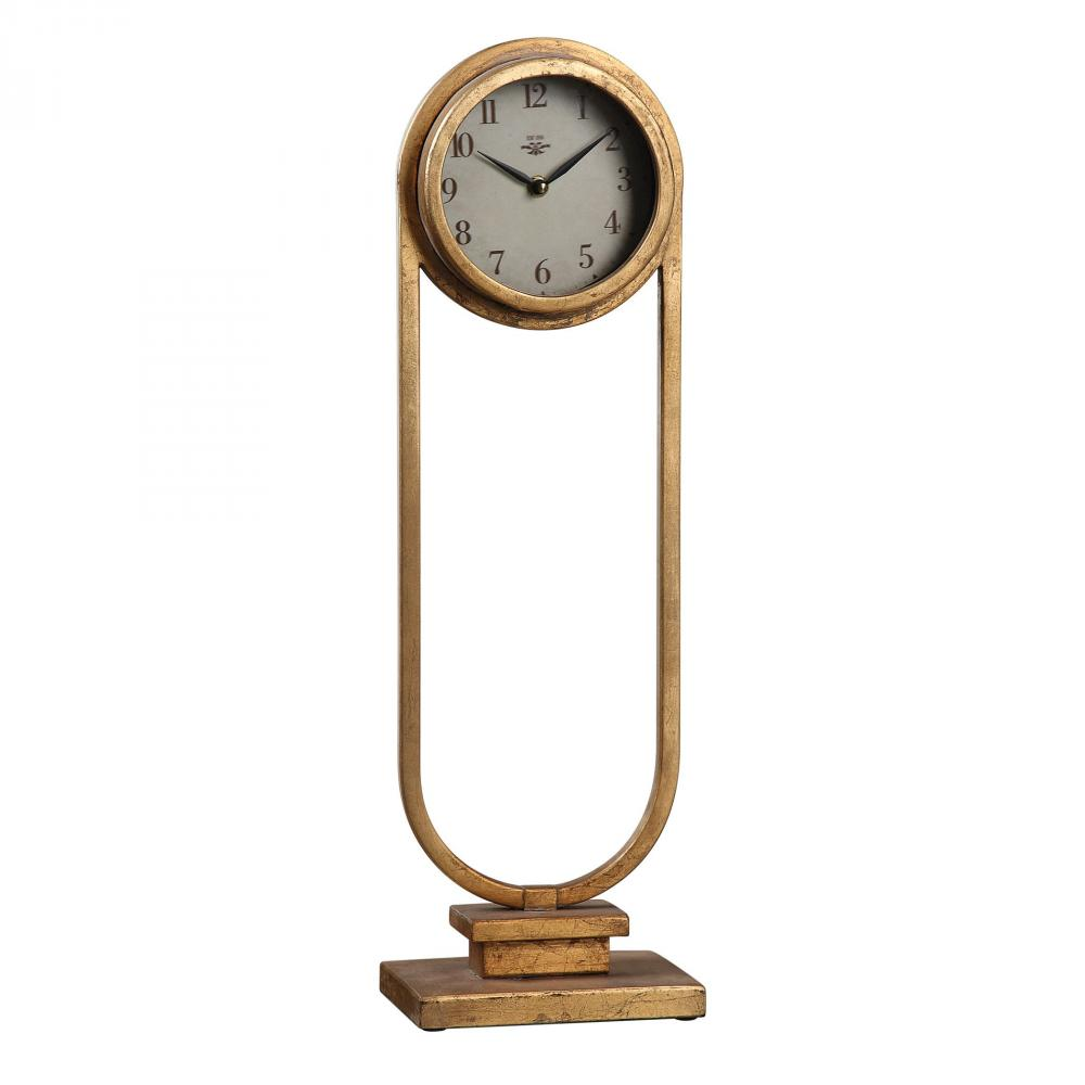 Wilkinson's House of Lighting in St.George, Utah, United States, Uttermost 06441, Uttermost Alard Gold Table Top Clock, Alard