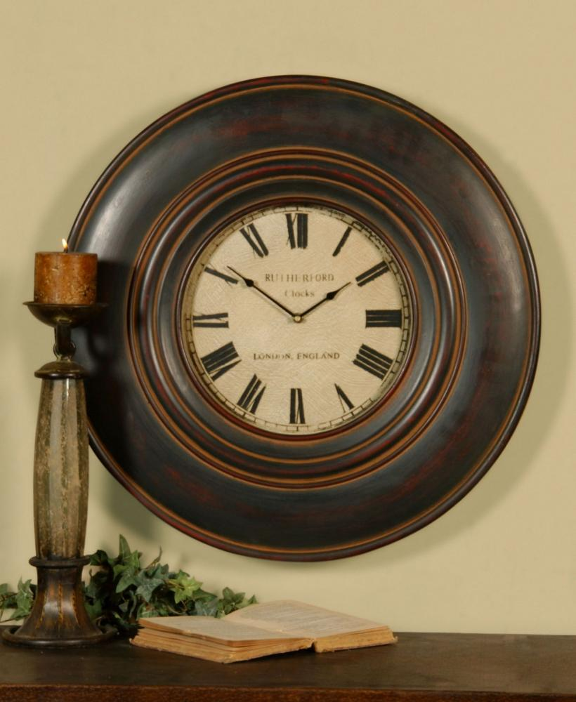 "Wilkinson's House of Lighting in St.George, Utah, United States, Uttermost 06724, Uttermost Adonis 24"" Wooden Wall Clock, Adonis"
