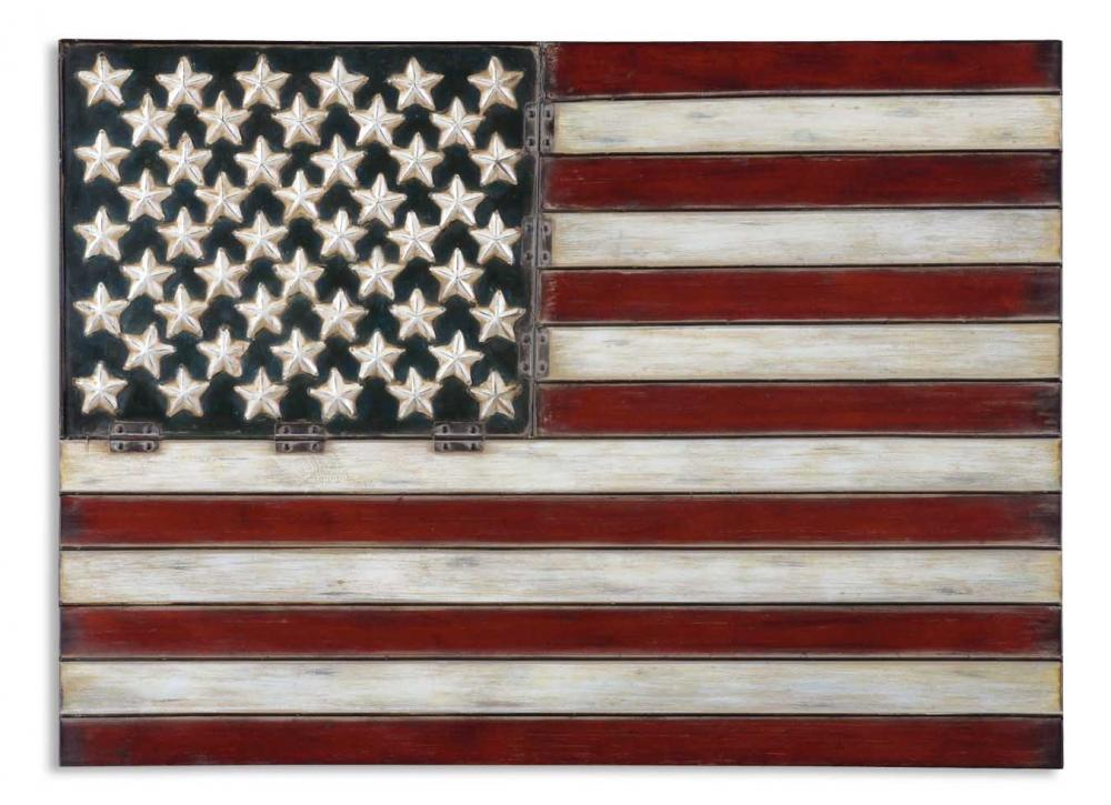 Wilkinson's House of Lighting in St.George, Utah, United States, Uttermost 13480, Uttermost American Flag Metal Wall Art, American Flag