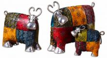 Uttermost 19058 - Uttermost Colorful Cows Metal Figurines, Set/3