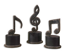 Uttermost 19280 - Uttermost Music Notes Metal Figurines, Set/3