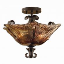 Uttermost 22200 - Uttermost Vetraio 2 Light Glass Semi Flushmount
