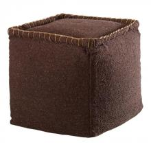 Uttermost 23950 - Uttermost Dakari Dark Brown Pouf