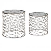 Uttermost 24628 - Uttermost Aida Iron Cage Accent Tables, S/2