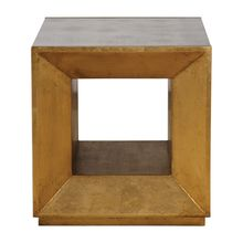 Uttermost 24763 - Uttermost Flair Gold Cube Table