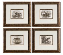 Uttermost 33590 - Uttermost Horses Framed Art Set/4