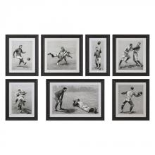 Uttermost 33655 - Uttermost Vintage Football Techniques Print Art S/7