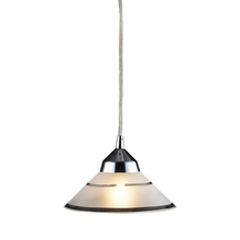 ELK Lighting 1477/1 - Refraction 1 Light Pendant In Polished Chrome An
