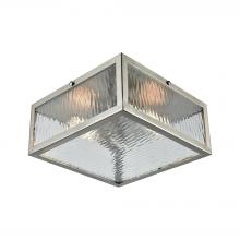 ELK Lighting 31786/2 - Placid 2 Light Flush In Polished Chrome With Cle