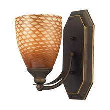 ELK Lighting 570-1B-C - Bath And Spa 1 Light Vanity In Aged Bronze And C